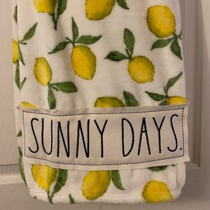 """Rae Dunn """"Sunny Days"""" Lemon throw 50x70 inches NWT"""